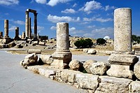 Amman, Jordan  The Roman temple of Hercules at Jabal al-Qal'a, also called Amman Citadel  It is a national historic site at the center of downtown Amm...