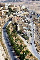 View of the city of Karak, from the Castle  Jordan