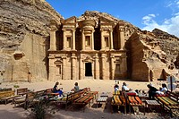 The Monastery - Ad Deir Ad-Dayr is a monumental building carved out of rock in the ancient Jordanian city of Petra  Built by the Nabataeans in the 1st...