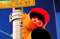 Traffic Lights, 42nd Street, Broadway, Times Square, Manhattan, New York City, USA