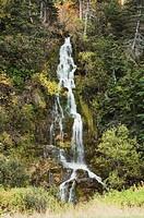A waterfall, gaspesie, quebec, canada