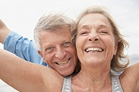 Spain, Senior couple smiling, portrait