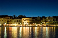 16th century venetian harbour, hania, crete, greece