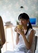 Teenagegirl talking to her mother