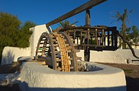 Cabo de Gata, El Pozo de los Frailes, Noria, Old Treadmill, Cabo de Gata-Nijar Natural Park, Biosphere Reserve, Almeria province, Andalucia, Spain