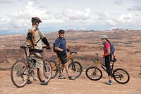 Bikers in Moab, Utah