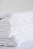 Stack of white towels