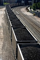 A train loaded with Wyoming Coal in Denver