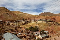 The old mining ghost town of Pulacayo, Industrial Heritage Site, famously linked to Butch Cassidy and the Sundance Kid, Bolivia, South America