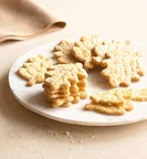 Leaf shaped cookies on plate