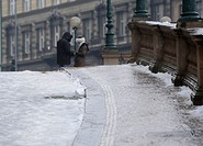 A layer of ice covered pavements infront of the National Museum in Prague, Czech Republic on December 15, 2012 CTK Photo/Michal Kamaryt