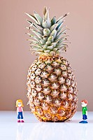 Girl and Boy Overwhelmed by Nutrition Choices Pineapple