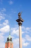 Poland capital Warsaw monument