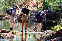 Bushwalkers in Litchfield National Park, Northern territory, Australia