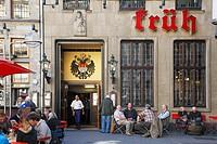 D-Cologne, Rhine, Rhineland, North Rhine-Westphalia, NRW, old town, Am Hof, brewery Coelner Hofbraeu Peter Joseph Frueh, Koelsch beer, beer from Colog...