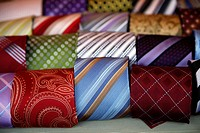 Rolled and Folded Men's Neckties