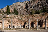 Roman Market Agora in Delphi, Greece