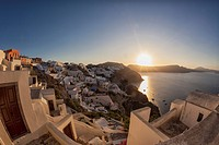 Oia, Santorini at sunrise