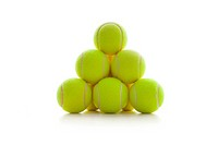 A pyramid of tennis balls