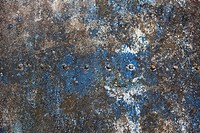 Weathered metal plate