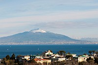 Vesuvius as seen from Sorrento.