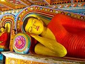Reclining Buddha statue, Isurumuniya Vihara.