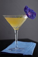 Lemon Drop Martini with Flower