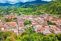 Panoramic of Jerico, Southwestern Antioquia, Antioquia, Colombia