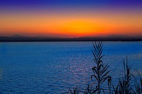 sunset in Albufera lake Valencia