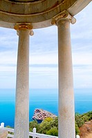 es Galliner gazebo in Son Marroig over Majorca sea