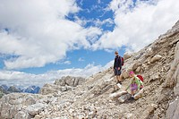 tourists in the Julian Alps Slovenia