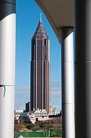 The Bank of America Plaza, the tallest building in Atlanta and Georgia ,Atlanta, Geogia, USA