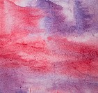 Watercolor background with colorful layers on paper