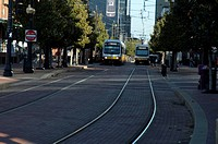 Trolley/Train, Downtown, Dallas, Texas