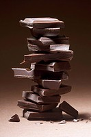 A stack of dark chocolate (thumbnail)