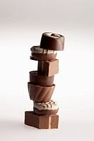 A stack of chocolates