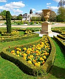 The formal Italianate gardens at Trentham Gardens Stoke-on-Trent Staffordshire England UK
