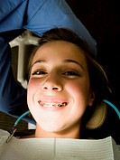 Girl having dental examination