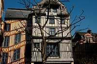 Normandy, picturesque old historical house in Rouen