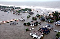 Aerial views of the damage caused by Hurricane Sandy to the New Jersey coast taken during a search and rescue mission by 1-150 Assault Helicopter Batt...