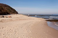 Beach with cliffs in Koserow, Usedom Island, Mecklenburg_Western Pomerania, Germany, Europe