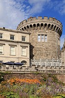 Dublin, Republic of Ireland, Eire, Europe  The 13th century Record Tower the only remaining part of original medieval Norman castle is now the Garda m...