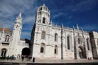 Dos Jeronimos Monastery Facade, Lisbon, Portugal, Europe