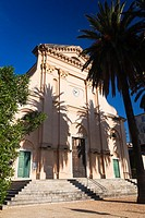 France, Corsica, Haute-Corse Department, La Balagne Region, Ile Rousse, Place Paoli, Eglise de Immaculee Conception church