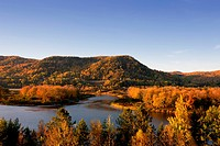 The Restigouche River in Fall, Quebec, Canada