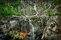 Waterfall, Tadoussac Fjord, Tadoussac, Quebec, Canada
