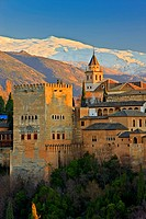 The Alhambra, La Alhambra, a moorish citadel and palace designated a UNESCO World Heritage Site in 1984, City of Granada, Province of Granada, Andalus...