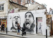 Street Art, near Brick Lane, Shoreditch, East London, England