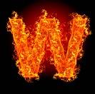 Fire letter W