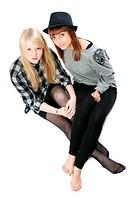 Two beautiful young girls